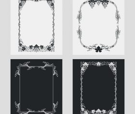 Art black and white frame vector 01