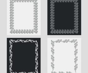 Art black and white frame vector 02