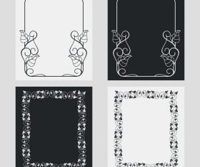 Art black and white frame vector 03