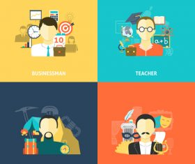 Artist etc professions illustration vector