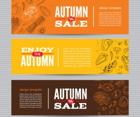 Autumn banners card vector