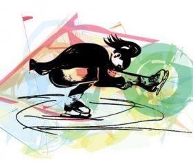 Axle of revolution silhouette vector