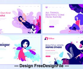 Be your own kind of beautiful vector concept illustration