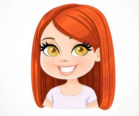 Beautiful girl cartoon portrait vector