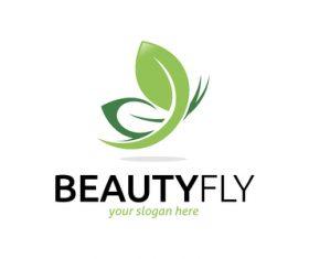 Beauty fly logo vector