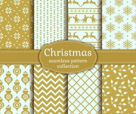 Beige Christmas Seamless Pattern vector