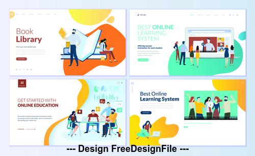 Best online learning system vector concept illustration