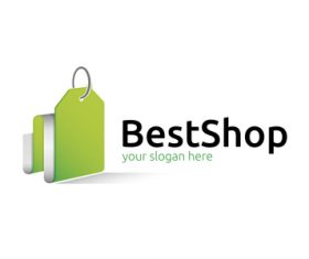 Best shop logo vector