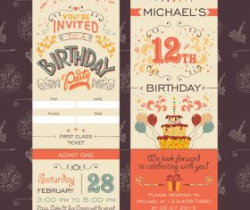 Birthday design elements banner vector