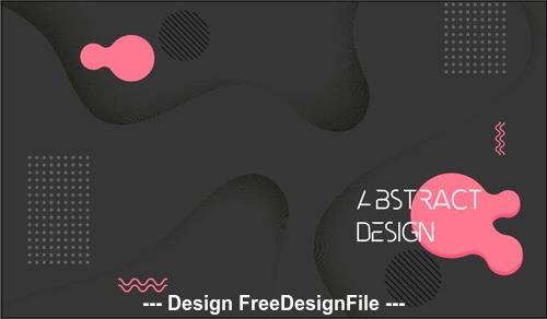 Black abstract geometric background vector