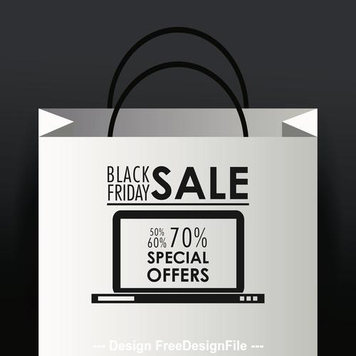 Black friday flyer vector