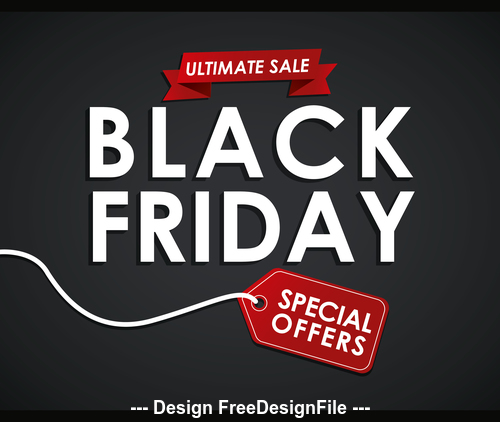 Black friday offer icon vector