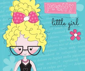 Blond girl cartoon vector