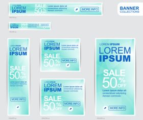 Blue banner advertising templates design vector