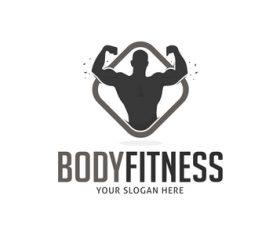 Body fitness logo vector