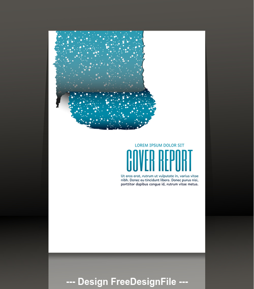 Brochure simple cover design vector