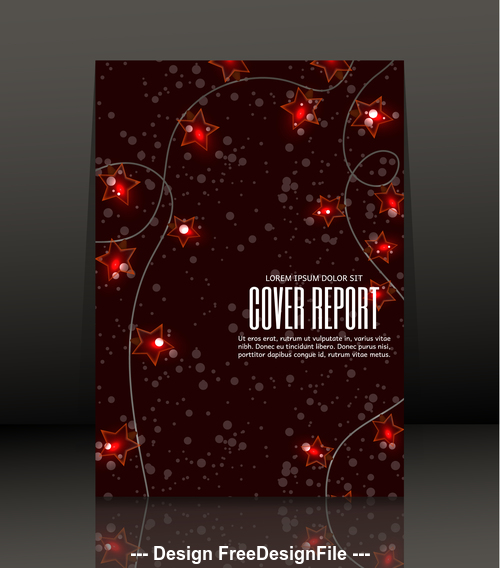 Brochure star cover design vector