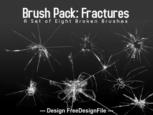Broken Glass Photoshop Brushes