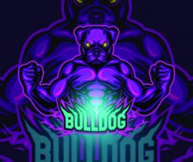 Bulldog logo vector design