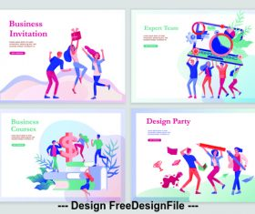 Business courses vector