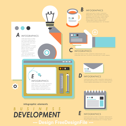 Business development design Illustratio vector