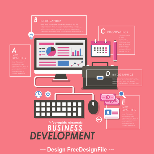 Business development web design Illustratio vector