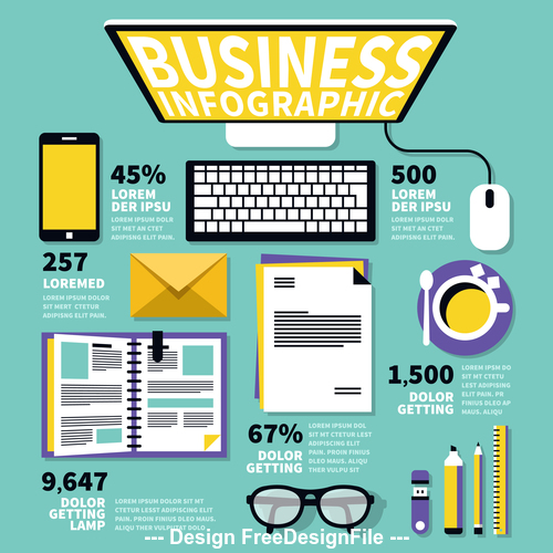 Business information element illustration vector