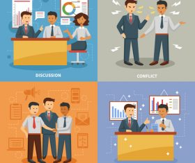 Business professions illustration vector