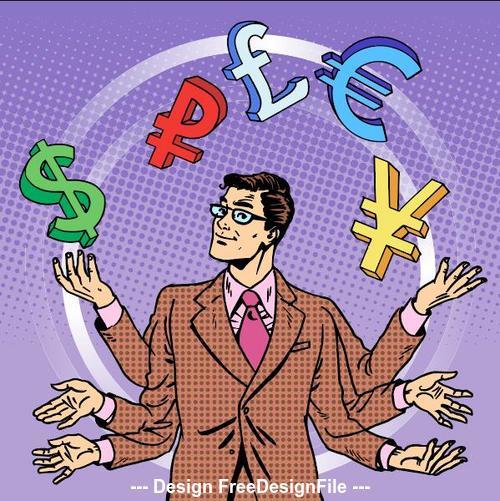 Business success people comics vector