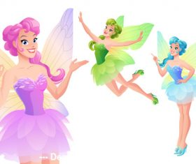 Butterfly fairy illustration vector