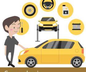 Car mechanic vector