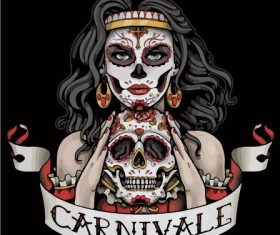 Carnivale face painting vector
