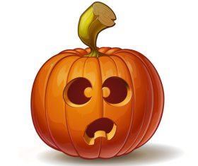 Cartoon funny pumpkins vector