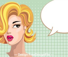 Cartoon girls conversation illustration vector