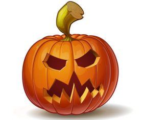 Cartoon halloween scary pumpkin vector