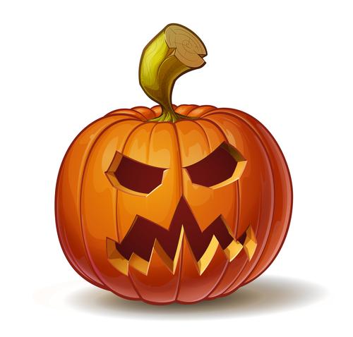 Cartoon halloween scary pumpkin vector