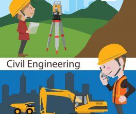 Cartoon land survey engineer vector