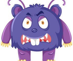 Cartoon monster vector