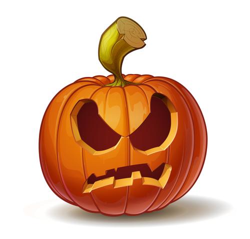 Cartoon pumpkins angry expression vector