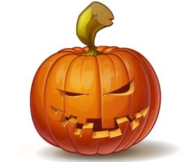 Cartoon pumpkins mean expression vector