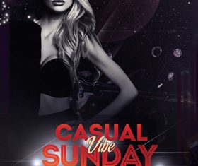 Casual Sunday Vibe PSD Flyer Template