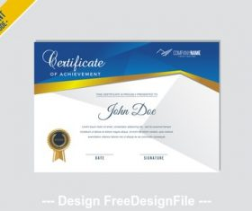 Certificate a4 mode vector
