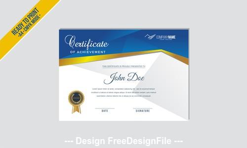 Certificate a4 mode vector