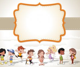 Childrens cartoon and dialog vector