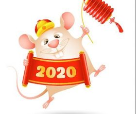 Chinese New Year rat vector