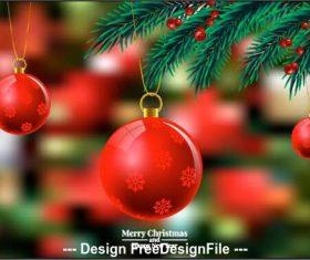 Christmas balls pendant vector