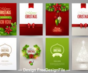 Christmas brochure collection vector