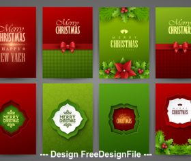 Christmas different graphics brochure vector