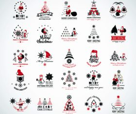 Christmas elements icon vector