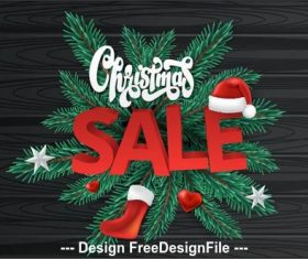 Christmas gift sale background vector